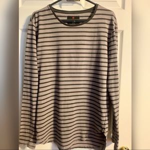 Cotton on striped long sleeve grey/black